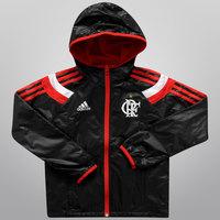 Jaqueta Adidas Flamengo Hino c  Capuz Juvenil Masculina Preta  3d1db6b1e4087
