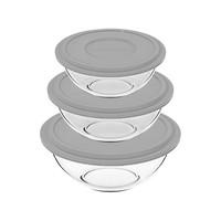 Conjunto De Tigelas De Vidro 3 Peças Marinex Plus