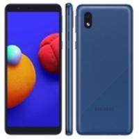 Smartphone Samsung Galaxy A01 Core Azul 32GB, Tela Infinita de 5.3, Câmera Traseira 8MP, Android GO 10.0, Dual Chip e Processador Quad-Core