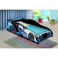 Cama Infantil Carro  Drift Azul - JA Móveis