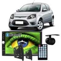 Central Multimídia Mp5 Ford Ka 2008 à 2012 D720BT Moldura Bluetooth Câmera Ré