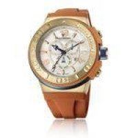 Relógio Jean Vernier Caixa Aço e Pulseira Silicone 10ATM Laranja