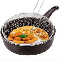 Frigideira Fritular Com Cesto 24cm Antiaderente 9 Preta Dona Chefa