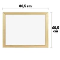 Lousa Quadro Branco Marcador Moldura Em Madeira 80X60cm