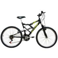 Bicicleta Mormaii Aro 24 Fullsion Preto Fosco