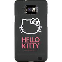 Capa para Celular Case Mix Galaxy S2 Hello Kitty Cristais Policarbonato Preta