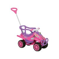 Quadriciclo Infantil A Pedal Calesita Cross Turbo Rosa e Lilás
