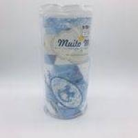 Cobertor Rolo Bordado 90x110 Azul Bebe - M Mimo Minasrey Ref