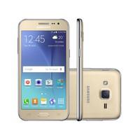 Smartphone Samsung Galaxy J2 Duos SM-J200BT 4G Desbloqueado GSM TV Dual Chip Android 5.1 Dourado
