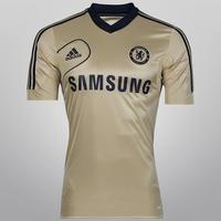 Camisa Adidas Chelsea Treino 12 13 Masculina Dourada  51cc11d8ccb71