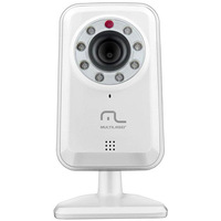 Camera Ip Multilaser RE007 Wireless Plug And Play Branca