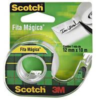 Fita Mágica 3M Scotch 12mm x 10m Branca