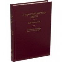 O Novo Testamento Grego, capa dura vinho