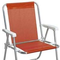 Cadeira Dobrável Alta Sannet Alumínio 2277 Coral Mor