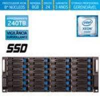 Servidor-storage Silix X1200h24 V6 Intel Xeon V6 3.5 Ghz / 8gb / Ssd / 240tb Vigilância / Raid