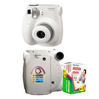 Câmera Digital FujiFilm Instantânea Instax 7S  12.7 Megapixels Branca + Filme Instantâneo Fujifilm Instax Pack 20 Unidades