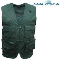 Colete Expedition Nautika 5 bolsos Grandes Frontais Verde