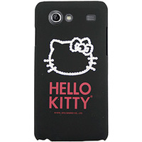 Capa para Celular Case Mix Galaxy S2 Lite Hello Kitty Cristais Policarbonato Preta