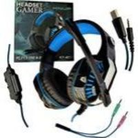 Headset Gamer Kp 491 Com Leds Para Pc Ps4 Cabo P2 E Usb