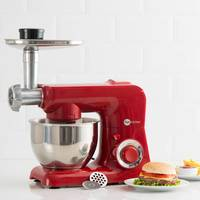 Batedeira Fun Kitchen Power Machine 500W Vermelha + Moedor De Carne Fun Kitchen