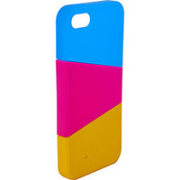 Capa para iPhone 5 Ismart Snap On Amarela Rosa e Azul