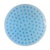 Tapete de Box AGUA-CARE 50cm X 50cm Redondo Azul - Bella Casa