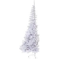 Árvore de Natal Christmas Traditions Pela Metade Branca 2.1m