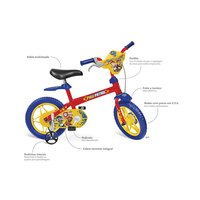 Bicicleta Infantil Aro 12 Bandeirante Patrulha Canina Vermelha