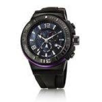 Relógio Jean Vernier Caixa Aço e Pulseira Silicone 10ATM Preto