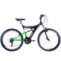 Bicicleta Track & Bikes Aro 26 18 Marchas TB300 Preta e Verde