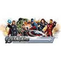 Adesivo de Parede The Avengers Giant Wall Decal with Alphabet Roommates Colorido (46x12,8x2,8cm)