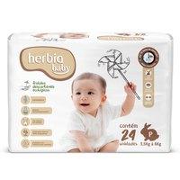Fralda Descartável Ecológica Herbia Baby P 24 Unidades