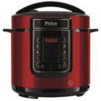 Panela de Pressão Digital Philco PPPV 01 6 Ltros Inox Vermelho 220V