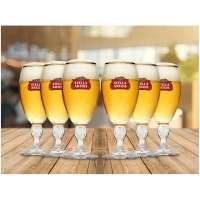 Jogo de Taças Para Cerveja de Vidro Ambev Stella Artois 6 Peças 250ml