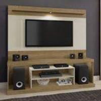 Estante Home para TV até 65 Polegadas com LED Portinari Mavaular Damasco/Off White