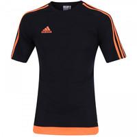 Camiseta adidas Estro Masculina Preto e Laranja