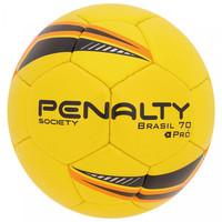Bola de Futebol Society Penalty Brasil 70 Pró V Amarela e Preta