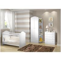 Quarto De Bebê Completo Multimóveis Confete Luiza 3 Níveis De Altura Com Cômoda Com Guarda roupa Berço Para Bebê Magazine Luiza