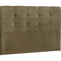 Cabeceira Queen Simbal Clean Nobuck Marrom Taupe