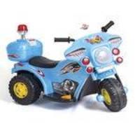 Mini Moto Elétrica Police Azul 1345 - Unitoys