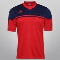 Camiseta Adidas Autheno 12 Masculina Vermelha e Marinho  571e056dd090f