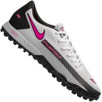 Chuteira Society Nike React Phantom GT Pro TF - Adulto - BRANCO/ROSA