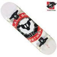 Skate Montado Black Sheep Semi-profissional Logo Branco