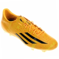 Chuteira Adidas F50 Adizero FG Messi Masculino Amarelo e Laranja ... 6ea83d591fc21