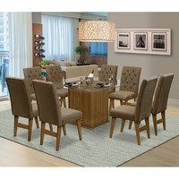 Mesa para Sala de Jantar Saint Louis com 8 Cadeiras – Dobuê Movelaria - Mell / Castor