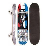 Skate Completo Semi Profissional Reality You Street Preto