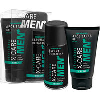 Kit Dueto Fiorucci X-Care Men Espuma Barbear Fresh 160grs + Após Barba 120grs + Caixa Presente