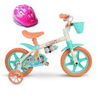 Bicicleta Aro 12 Infantil Sea Capacete Nathor
