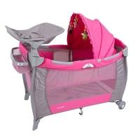 Berço Portátil de Luxo com Trocador - Solis - Rosa - Prime Baby