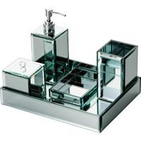 Conjunto para Banheiro Prestige Bon Gourmet 5 Peças Espelho